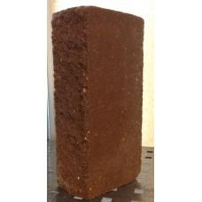 Декоративный кирпич колотый 190х90х56 шоколадный  (576шт. подон) 1 шт.50шт в м2