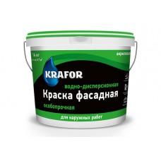 Краска ВДАК KRAFOR фасадная (супербелая.) 14кг