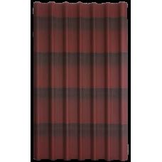 Кровельный лист ОНДУЛИН Красный ДВУХЦВЕТНЫЙ 1,97*0,96м