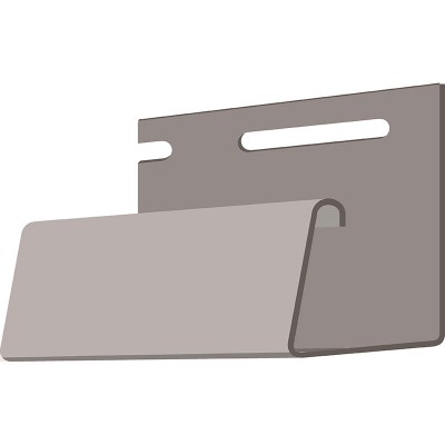 DOCKE J-профиль фасадный (дымчатый) 3,05м