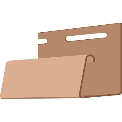 DOCKE J-профиль фасадный (каштановый) 3,05м