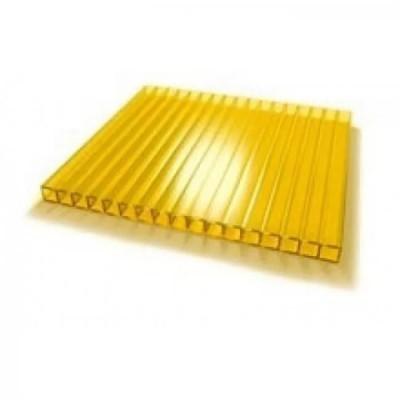 10мм ЖЕЛТЫЙ  сот. поликарбонат (2.1*12м) 1м.
