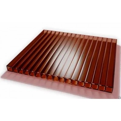 10мм КОРИЧНЕВЫЙ сот.поликарбонат (2.1*12м) 1м.