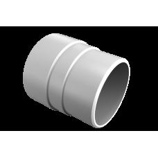 Муфта трубы соединительная Vinil-On D=90 белая